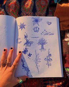 Henna Ink, Etsy Art, Amazing Art, Hippie Art, Birthday Tattoo, Art Collage Wall, Art Ink, Collage Art, Easy Cartoon Drawings