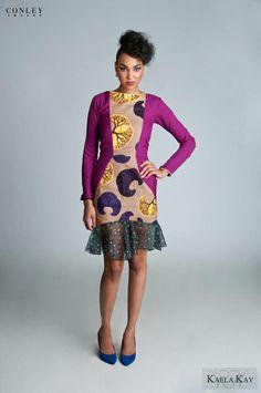 Kaela Kay Fall/Winter 2013 Mixed Prints African Prints [more at pinterest.com/azizashopping]   #AfricanPrints