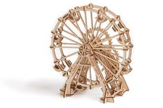This elegant and beautiful model has been the choice for many hobbyists and collectors. The authentic design which allows the wheel to actually turn makes will impress your friends. Every Wood Trick model is a puzzle. 3d Puzzles, Wooden Puzzles, Wooden Toys, Perfect Gift For Him, Gifts For Him, Wooden Model Kits, Creative Thinking Skills, Model Building Kits, Learn Woodworking