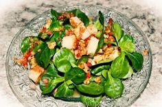 Nüssli(-salat) = Feldsalat = Döchterli-(salat) mit Speck und Kracherle