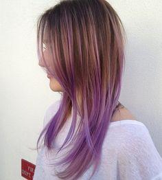 Purple ombré hair color ideas / Subtle to bold