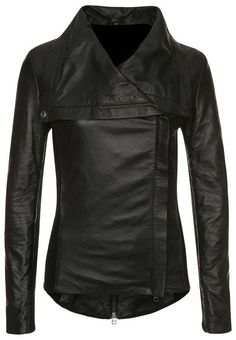 women black leather jacket women wide collar by Myleatherjackets, $159.99