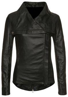women black leather jacket women wide collar by Myleatherjackets, $159.99