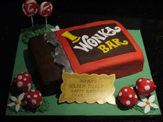 Charlie and the chocolate factory Wonka bar cake