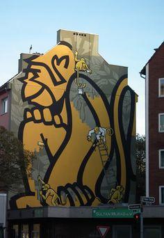 Street art in Düsseldorf, Germany