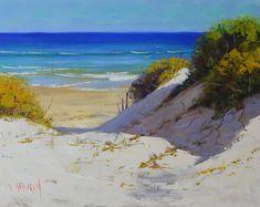 Shadows and Sunlight oil on canvas beach dune painting Oil painting by Graham Gercken Original Oil Painting, Australian Artists, Sky Artwork, Triptych Wall Art, Coastal Painting, Painting, Oil Painting, Seascape Paintings, Park Art