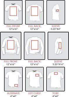 Placement designs on t-shirts, pants, shorts etc
