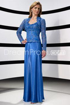 Floor Length Blue Sheath/Column Mother Of The Bride Dresses Under 200