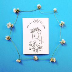 Flower Child - Girl with Wreath and Flowers                                             https://www.etsy.com/shop/NellieKateDesigns