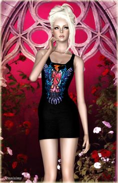 Savage Punk dress by Jennisims for Sims 3