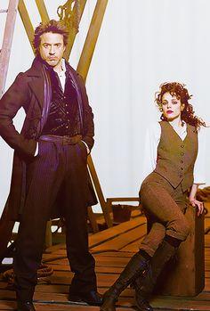 "Robert Downey Jr. and Rachel McAdams, ""Sherlock Holmes,"" 2009"