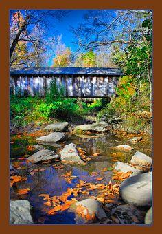 Pisgah Covered Bridge, Uwharrie National Forest, North Carolina by Skip Bradley on @Flickr