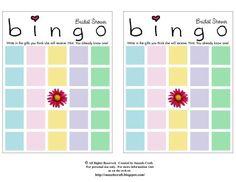Snazzle Craft: Bridal Bingo