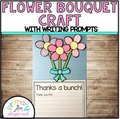 Flower Bouquet Craft With Writing Prompts/Pages by Primary Playground