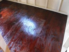 Stained plywood flooring I think we should do this Deb Rustic Living Room Furniture, Furniture Layout, Plywood Furniture, Home Furniture, Furniture Design, Stained Plywood Floors, Painted Floors, Plywood Subfloor, Diy Flooring