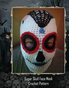 Sugar Skull Face Mask Crochet Pattern PDF-INSTANT DOWNLOAD