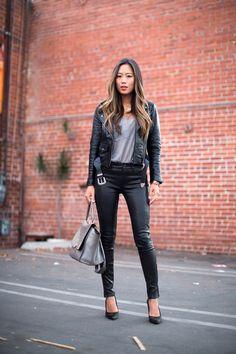 songofstyle leatherjacket leatherpants She killed it! ^^