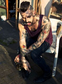 Another cute tattooed hipster