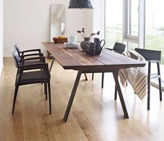 danish dining table metal legs - Google Search