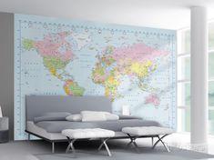 voor de wereldreizigers onder ons: een kaart voor aan de muur om te vertellen waar jou volgende reis heen gaat