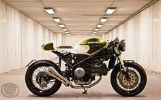 Ducati Monster Green Machine Cafe Racer #motorcycles #caferacer #motos | caferacerpasion.com