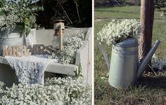 Vintage svadba - dekorácia