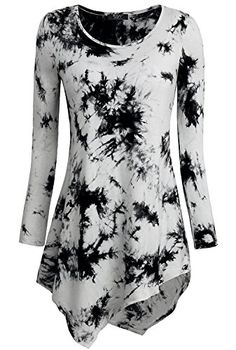 DJT Womens Tie Dyed Hankerchief Hemline Tunic Top - CONTINUE @ http://www.passion-4fashion.com/clothing/djt-womens-tie-dyed-hankerchief-hemline-tunic-top/?a=9540