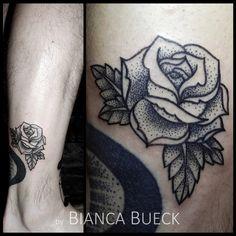 done by Bianca Bück tattooartist @Dresden Germany #rosetattoo #dotwork #rose #tattoo #pointalism