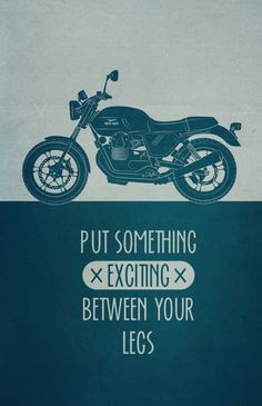 I want my own bike!!! / Biker Art Print by Carina Wagner, via Behance