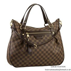ae9f544db Louis Vuitton N41131 Evora MM Shoulder Bag Damier Ebene Canvas