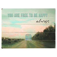 Free to Be Happy Wall Decor