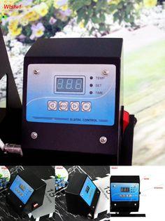 [Visit to Buy] 110v/220V mug/plate/t-shirt/cap heat press machine digital control box time temperature controller for heat press machine #Advertisement