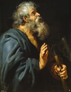 https://flic.kr/p/f4PC89   Saint Mathias   1610-1612. Oil on panel. 107,2 x 82,5 cm. Museo Nacional del Prado, Madrid. P01653.