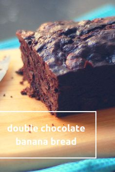 Double Chocolate Banana Bread – Blossom to Stem Double Chocolate Banana Bread. Simple, rich, chocolatey breakfast or dessert. From Blossom to Stem www. Flours Banana Bread, Chocolate Banana Bread, Chocolate Peanuts, Raisin Bread, Köstliche Desserts, Delicious Desserts, Dessert Recipes, Yummy Food, Breakfast Recipes
