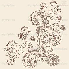 Tatto Ideas 2017  Paisley Pattern Henna Mehndi Tattoo Design