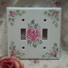 tole roses switch plate