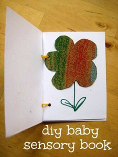 Cute and clever: how to make a DIY baby sensory book.