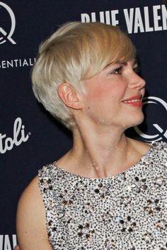 Michelle Williams platinum blonde pixie