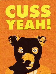 Fantastic Mr. Fox Poster or Framed Print Cuss Yeah Wes