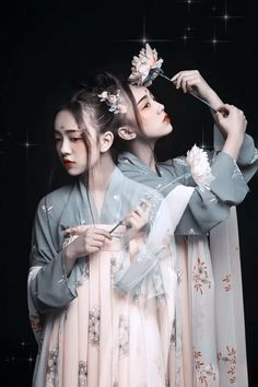 Ancient Chinese Hanfu Dress- not Korean, but the edit and overall feels
