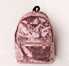 ROSE GOLD VELVET BACKPACK on The Hunt