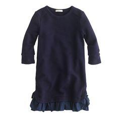 J.Crew - Girls' ruffle-hem sweatshirt dress