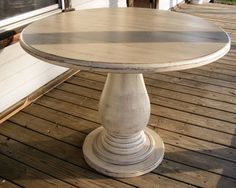 Round Pedestal Dining Table 48 paula deen home paula's round pedestal dining table in linen | for