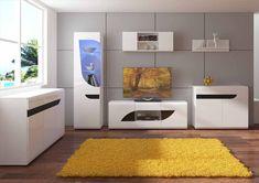 BRYZA kolekcja nowoczesnych mebli z kolorowymi frontami w połysku idealna do nowoczesnego salonu czy romantycznego pokoju nastolatka