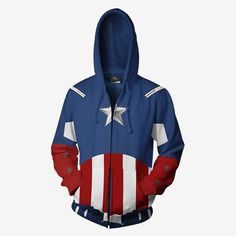 f36810944 MARVEL COMICS - Captain America Avengers Hero Hoodie