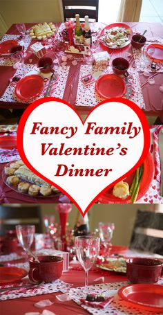 Friendly Fancy Valentine Dinner - such a fun tradition for Valentine's Day and then can avoid the crowded restaurants too!Family Friendly Fancy Valentine Dinner - such a fun tradition for Valentine's Day and then can avoid the crowded restaurants too! Valentine Desserts, Valentines Day Food, My Funny Valentine, Family Valentines Dinner, Kinder Valentines, Valentines Day Activities, Valentine Treats, Valentines Day Decorations, Valentine Day Crafts