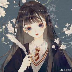 Kawaii Anime Girl, Anime Art Girl, Manga Girl, Arte Do Harry Potter, Harry Potter Anime, Pretty Art, Cute Art, Anime Chibi, Manga Anime