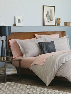Mix Nate Berkus bedding with your own vintage finds to refresh your room.