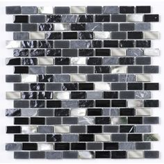 Due to the metallic pieces on this mosaic we do not recommend this mosaic for use in wet areas such as shower walls. Grey Brick, Outdoor Tiles, Underfloor Heating, Color Tile, Pearl Grey, Black Glass, Black And Grey, Indoor, Pearls