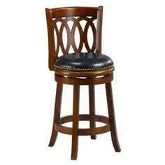 Cameron Cherry Spiral Back Swivel Counter Stool | Overstock.com Shopping - Great Deals on Bar Stools